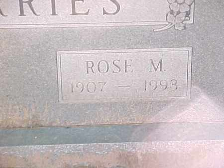 BARRIES, ROSE M (2) - Pulaski County, Arkansas | ROSE M (2) BARRIES - Arkansas Gravestone Photos