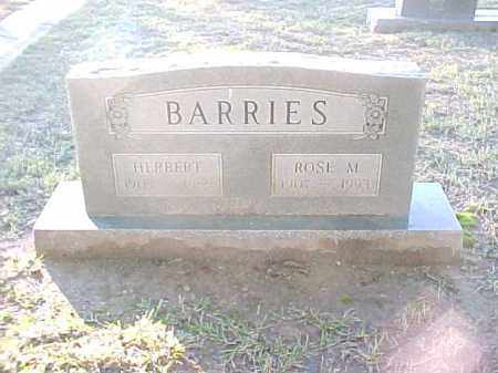 BARRIES, HERBERT - Pulaski County, Arkansas | HERBERT BARRIES - Arkansas Gravestone Photos