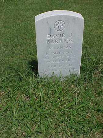 BARRIOS (VETERAN WWI), DAVID J - Pulaski County, Arkansas | DAVID J BARRIOS (VETERAN WWI) - Arkansas Gravestone Photos
