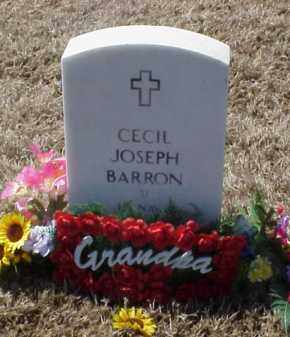BARRON (VETERAN), CECIL JOSEPH - Pulaski County, Arkansas | CECIL JOSEPH BARRON (VETERAN) - Arkansas Gravestone Photos