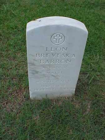 BARRON (VETERAN WWII), LEON BREVESKA - Pulaski County, Arkansas | LEON BREVESKA BARRON (VETERAN WWII) - Arkansas Gravestone Photos