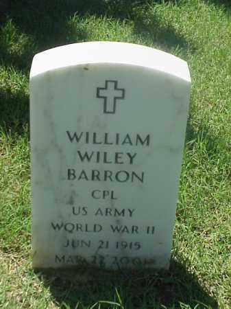 BARRON (VETERAN WWII), WILLIAM WILEY - Pulaski County, Arkansas | WILLIAM WILEY BARRON (VETERAN WWII) - Arkansas Gravestone Photos