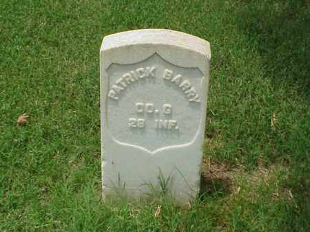 BARRY (VETERAN UNION), PATRICK - Pulaski County, Arkansas | PATRICK BARRY (VETERAN UNION) - Arkansas Gravestone Photos