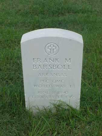 BARSBOLL (VETERAN WWI), FRANK M - Pulaski County, Arkansas | FRANK M BARSBOLL (VETERAN WWI) - Arkansas Gravestone Photos