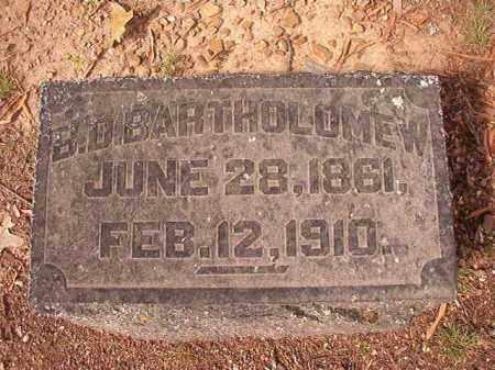 BARTHOLOMEW, B D - Pulaski County, Arkansas | B D BARTHOLOMEW - Arkansas Gravestone Photos