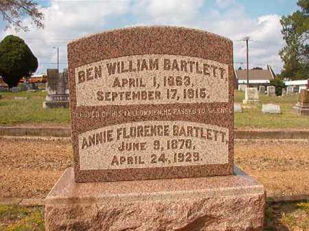 BARTLETT, BEN WILLIAM - Pulaski County, Arkansas | BEN WILLIAM BARTLETT - Arkansas Gravestone Photos