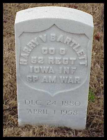 BARTLETT (VETERAN SAW), HARRY V - Pulaski County, Arkansas | HARRY V BARTLETT (VETERAN SAW) - Arkansas Gravestone Photos