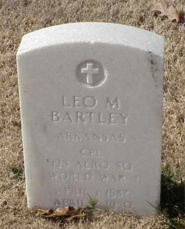 BARTLEY (VETERAN WWI), LEO M - Pulaski County, Arkansas | LEO M BARTLEY (VETERAN WWI) - Arkansas Gravestone Photos