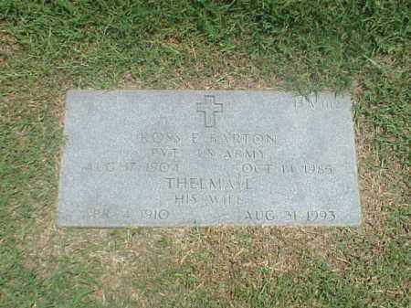 BARTON (VETERAN), ROSS E - Pulaski County, Arkansas | ROSS E BARTON (VETERAN) - Arkansas Gravestone Photos