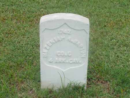 BARTON (VETERAN UNION), HEZEKIAH A - Pulaski County, Arkansas | HEZEKIAH A BARTON (VETERAN UNION) - Arkansas Gravestone Photos