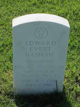 BASHAW (VETERAN WWI), EDWARD EVERT - Pulaski County, Arkansas | EDWARD EVERT BASHAW (VETERAN WWI) - Arkansas Gravestone Photos