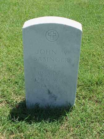 BASINGER (VETERAN WWII), JOHN W - Pulaski County, Arkansas | JOHN W BASINGER (VETERAN WWII) - Arkansas Gravestone Photos