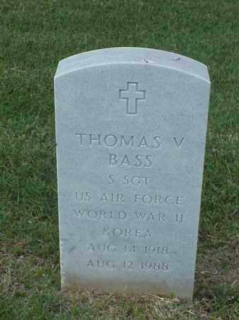 BASS (VETERAN 2WARS), THOMAS V - Pulaski County, Arkansas | THOMAS V BASS (VETERAN 2WARS) - Arkansas Gravestone Photos