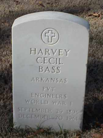 BASS (VETERAN WWI), HARVEY CECIL - Pulaski County, Arkansas | HARVEY CECIL BASS (VETERAN WWI) - Arkansas Gravestone Photos