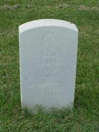 BASS (VETERAN WWI), SAM - Pulaski County, Arkansas | SAM BASS (VETERAN WWI) - Arkansas Gravestone Photos