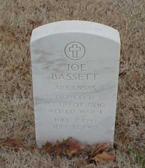 BASSETT  (VETERAN WWI), JOE - Pulaski County, Arkansas | JOE BASSETT  (VETERAN WWI) - Arkansas Gravestone Photos