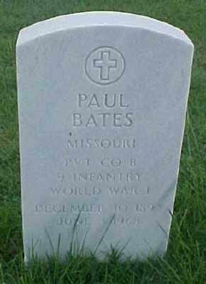 BATES (VETERAN WWI), PAUL - Pulaski County, Arkansas | PAUL BATES (VETERAN WWI) - Arkansas Gravestone Photos