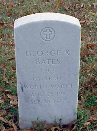 BATES (VETERAN WWII), GEORGE K - Pulaski County, Arkansas | GEORGE K BATES (VETERAN WWII) - Arkansas Gravestone Photos