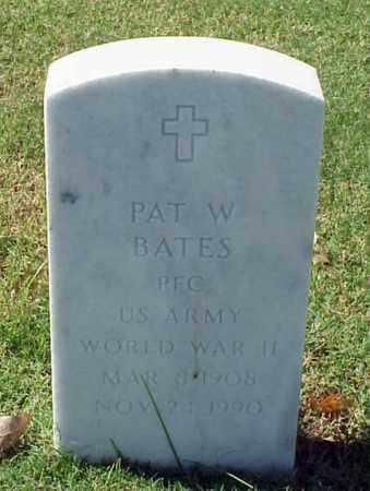 BATES (VETERAN WWII), PAT W - Pulaski County, Arkansas | PAT W BATES (VETERAN WWII) - Arkansas Gravestone Photos