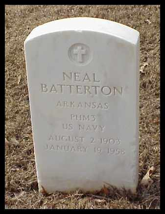 BATTERTON (VETERAN), NEAL - Pulaski County, Arkansas | NEAL BATTERTON (VETERAN) - Arkansas Gravestone Photos