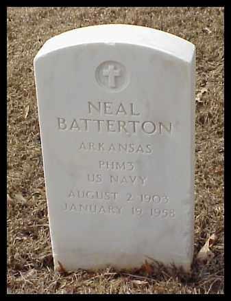 BATTERTON (VETERAN), NEAL - Pulaski County, Arkansas | NEAL BATTERTON (VETERAN) - Arkansas Gravestone Photos