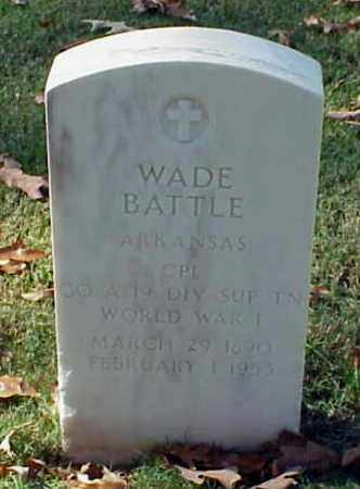BATTLE (VETERAN WWI), WADE - Pulaski County, Arkansas | WADE BATTLE (VETERAN WWI) - Arkansas Gravestone Photos