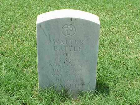 BATTLE (VETERAN WWI), WALTER - Pulaski County, Arkansas | WALTER BATTLE (VETERAN WWI) - Arkansas Gravestone Photos