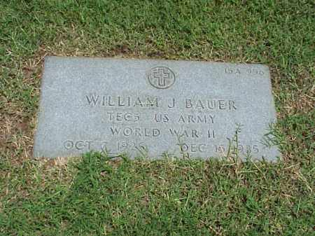 BAUER (VETERAN WWII), WILLIAM J - Pulaski County, Arkansas | WILLIAM J BAUER (VETERAN WWII) - Arkansas Gravestone Photos