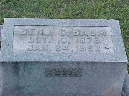 BAUM, BENJAMIN G - Pulaski County, Arkansas | BENJAMIN G BAUM - Arkansas Gravestone Photos