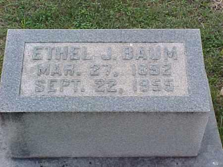 BAUM, ETHEL J - Pulaski County, Arkansas | ETHEL J BAUM - Arkansas Gravestone Photos