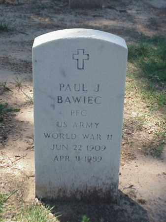 BAWIEC (VETERAN WWII), PAUL J - Pulaski County, Arkansas | PAUL J BAWIEC (VETERAN WWII) - Arkansas Gravestone Photos