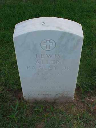 BAXLEY, JR (VETERAN WWII), LEWIS ALLEN - Pulaski County, Arkansas | LEWIS ALLEN BAXLEY, JR (VETERAN WWII) - Arkansas Gravestone Photos