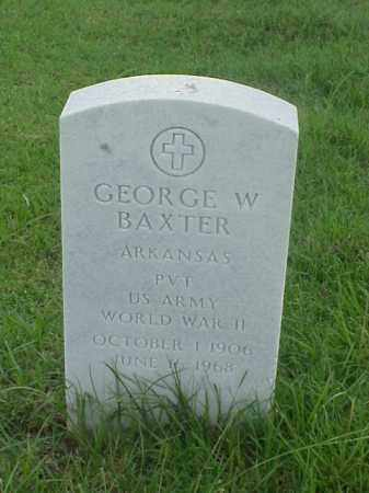 BAXTER (VETERAN WWII), GEORGE W - Pulaski County, Arkansas | GEORGE W BAXTER (VETERAN WWII) - Arkansas Gravestone Photos