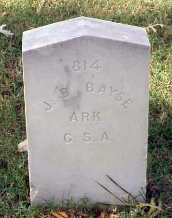 BAYSE (VETERAN CSA), J  B - Pulaski County, Arkansas | J  B BAYSE (VETERAN CSA) - Arkansas Gravestone Photos