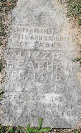 BEACHAM, LIZZIE - Pulaski County, Arkansas | LIZZIE BEACHAM - Arkansas Gravestone Photos