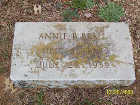 KILLINGSWORTH BEALL, ANNIE B - Pulaski County, Arkansas | ANNIE B KILLINGSWORTH BEALL - Arkansas Gravestone Photos