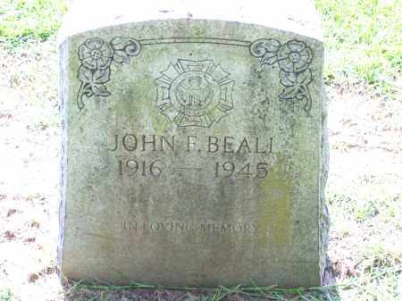 BEALL, JOHN F. - Pulaski County, Arkansas | JOHN F. BEALL - Arkansas Gravestone Photos