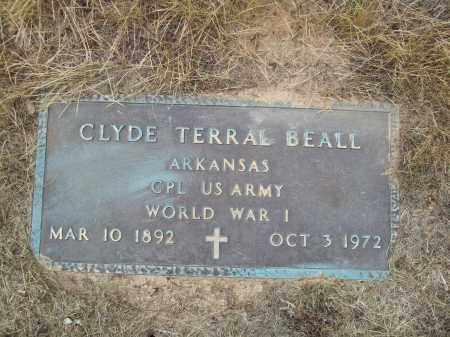 BEALL (VETERAN WWI), CLYDE TERRAL - Pulaski County, Arkansas | CLYDE TERRAL BEALL (VETERAN WWI) - Arkansas Gravestone Photos