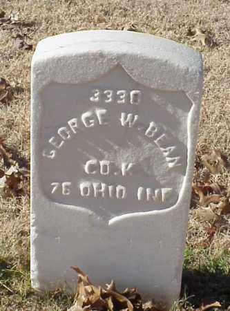 BEAN (VETERAN UNION), GEORGE W - Pulaski County, Arkansas | GEORGE W BEAN (VETERAN UNION) - Arkansas Gravestone Photos