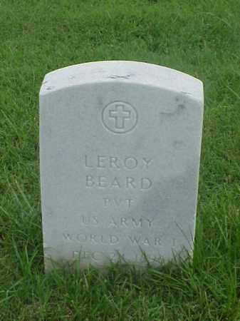 BEARD (VETERAN WWI), LEROY - Pulaski County, Arkansas | LEROY BEARD (VETERAN WWI) - Arkansas Gravestone Photos