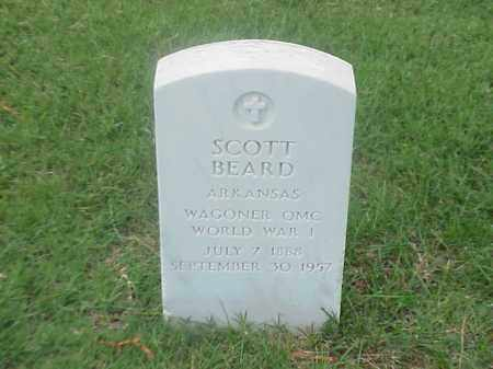 BEARD (VETERAN WWI), SCOTT - Pulaski County, Arkansas | SCOTT BEARD (VETERAN WWI) - Arkansas Gravestone Photos