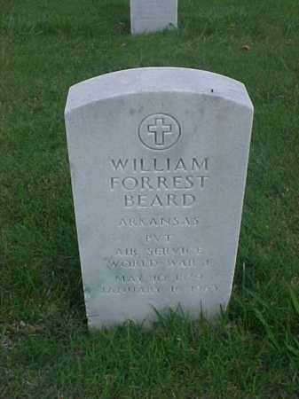 BEARD (VETERAN WWI), WILLIAM FORREST - Pulaski County, Arkansas | WILLIAM FORREST BEARD (VETERAN WWI) - Arkansas Gravestone Photos