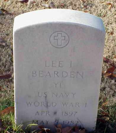 BEARDEN (VETERAN WWI), LEE I - Pulaski County, Arkansas | LEE I BEARDEN (VETERAN WWI) - Arkansas Gravestone Photos