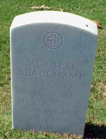 BEAUCHAMP (VETERAN WWI), MURRELL - Pulaski County, Arkansas | MURRELL BEAUCHAMP (VETERAN WWI) - Arkansas Gravestone Photos