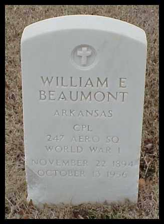 BEAUMONT (VETERAN WWI), WILLIAM E - Pulaski County, Arkansas | WILLIAM E BEAUMONT (VETERAN WWI) - Arkansas Gravestone Photos