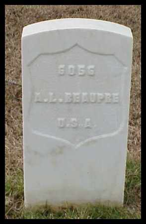 BEAUPRE (VETERAN UNION), ARTHUR L - Pulaski County, Arkansas | ARTHUR L BEAUPRE (VETERAN UNION) - Arkansas Gravestone Photos
