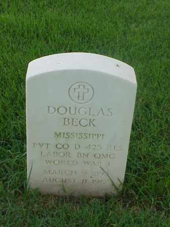 BECK (VETERAN WWI), DOUGLAS - Pulaski County, Arkansas | DOUGLAS BECK (VETERAN WWI) - Arkansas Gravestone Photos
