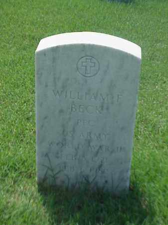 BECK (VETERAN WWII), WILLIAM F - Pulaski County, Arkansas | WILLIAM F BECK (VETERAN WWII) - Arkansas Gravestone Photos