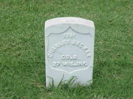 BECKER (VETERAN UNION), CHARLES - Pulaski County, Arkansas | CHARLES BECKER (VETERAN UNION) - Arkansas Gravestone Photos