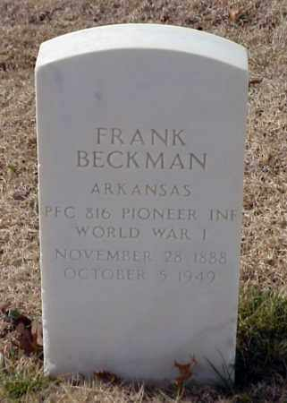 BECKMAN (VETERAN WWI), FRANK - Pulaski County, Arkansas | FRANK BECKMAN (VETERAN WWI) - Arkansas Gravestone Photos